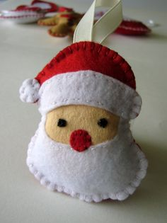 Felt christmas ornaments santa clause by DusiCrafts on Etsy