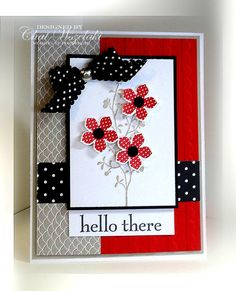 Stampin' Up Petite Petals Card by nitestamper on Etsy, $3.25