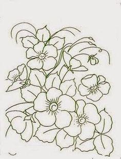 flores para pintura em tecido