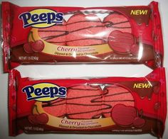 Peeps Cherry Flavored Marshmallow Dipped & Drizzled in Chocolate 2pk (1.5 Oz Ea) - http://bestchocolateshop.com/peeps-cherry-flavored-marshmallow-dipped-drizzled-in-chocolate-2pk-1-5-oz-ea/