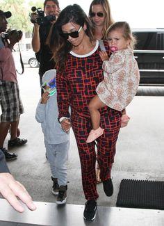 25 June 2014. Kourtney, Mason, and Penelope Catch a Flight at LAX. #kardashian #kardashians #jenner #paparazzi #kim #kourtney #khloe #kris #kendall #kylie #bruce #rob #kanye #west #scoot #disick #mason #penelope