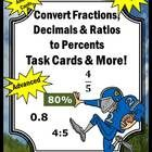 In this 31 page packet, you will will receive activities for your students to learn how to convert fractions, decimals, and ratios into percents.  ...
