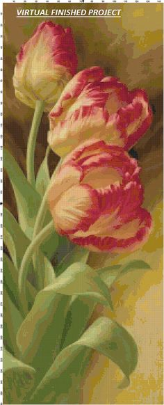 Magnficos tulipanes ii pinterest paintings flowers and acrylic tulips counted cross stitch pattern computer generated mightylinksfo