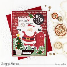 Spreadin' Good Cheer! by Jeanne Jachna – Simple Stories Santa Stocking, Homemade Christmas Cards, Very Merry Christmas, Xmas, Good Cheer, Jingle All The Way, Simple Stories, Cards For Friends, Dear Santa