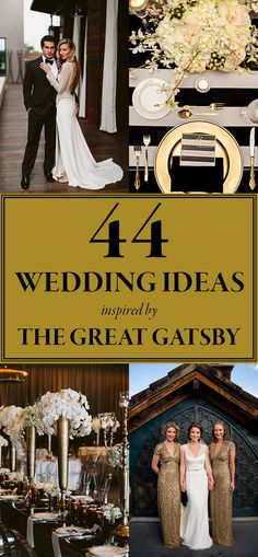 These Gatsby Wedding Ideas are Perfect for Your Vintage Glam Day | Junebug Weddings