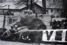 """""""Mario Alborghetti tragically lost his life in the 1955 GP de Pau as he was making his F1 debuts."""" : Mario Alborghetti - Volpini-Arzani (Maserati 4CLT/48 Maserati L4) - Scuderia Volpini - XVI Grand Prix Automobile de Pau 1955 - Non championship formula 1 race"""
