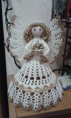 Best 12 Save want to make this – SkillOfKing. Crochet Angel Pattern, Crochet Angels, Crochet Doily Patterns, Thread Crochet, Crochet Yarn, Christmas Crochet Patterns, Crochet Ornaments, Christmas Angel Ornaments, Christmas Crafts