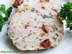 Pieczeń drobiowa z suszonymi pomidorami Meat Sandwich, Smoking Meat, Salmon Burgers, Sausage, Sandwiches, Paleo, Food And Drink, Cooking Recipes, Homemade