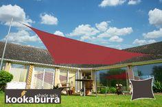 Tende a vela Kookaburra - Quadrata 3 m Marsala Tessuto Impermeabile