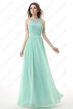Mint green Formal Long Evening Ball Gown Party Prom Bridesmaid Homecoming Dress #Handmade #BallGown #Formal