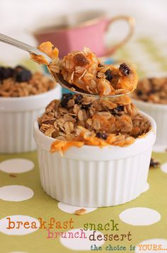 Sweet Potato Crisp Recipe with Oats and Raisins | Instead of packaged puddings for #ProjectLunchBox