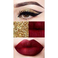 Stunning christmas makeup looks shine like a star! ❤ liked on Polyvore featuring beauty products, makeup, gloss makeup and polish makeup