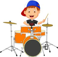 Illustration of Little boy cartoon playing drum vector art, clipart and stock vectors. Cartoon People, Music Humor, Boys Playing, Stick Figures, Character Development, Clipart, Rock Art, Caricature, Little Boys