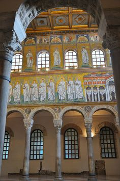 UNESCO World Heritage Site - Basilica of Sant'Apollinare Nuovo, Ravenna, Italy. Photo: newmansm via Flickr