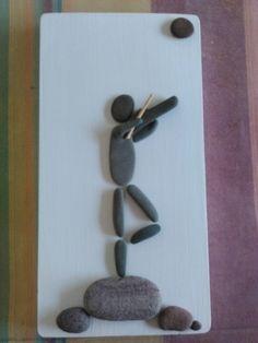 Mais uma encomenda personalizada!!! Pebble art