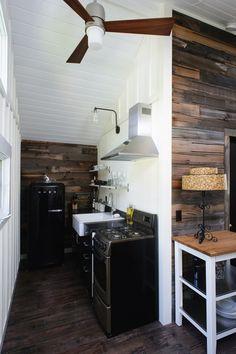 Sarah's Neutral Salvaged Wood Kitchen