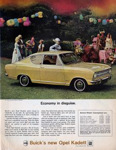 Opel Kadett 1966. Distributed by Buick in the USA.