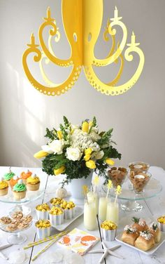 This Under the Sea Summer Party is so so pretty!! Love the hanging cutout octopus party decoration. See more party ideas and share yours at CatchMyParty.com #catchmyparty #undertheseaparty #summerparty
