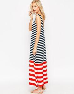 ASOS | ASOS Swing Maxi Dress in Mixed Stripe Print at ASOS.