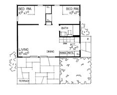 Country Style House Plan - 2 Beds 1 Baths 480 Sq/Ft Plan #72-543 - BuilderHousePlans.com