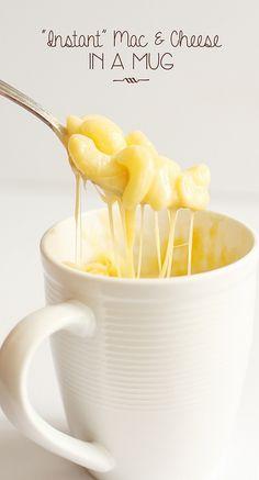easy - mac and cheese in a mug
