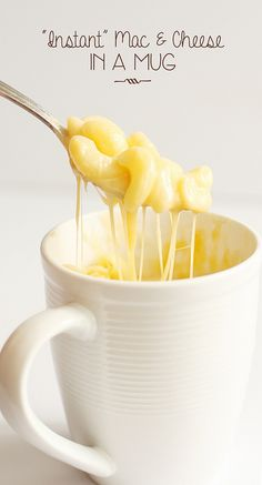 Mug mac and cheese