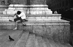 Os enamorados de Edouard Boubat, Bologna, Itália, 1987