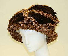Hat | American, ca. 1913 | Materials: straw, silk | The Metropolitan Museum of Art, New York