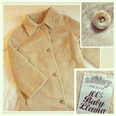 Vintage 1970s Baby Llama Coat Size Medium by BarbeeVintage on Etsy, $49.00
