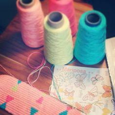 Mariposario tejido wayuu
