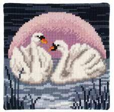 Gallery.ru / Фото #20 - ВЪЗГЛАВНИЦИ - vodolei Cross Stitch Cushion, Cross Stitch Bird, Cross Stitch Animals, Cross Stitch Charts, Cross Stitching, Cross Stitch Embroidery, Cross Stitch Patterns, Wedding Cross Stitch, Beaded Banners