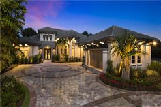 Luxury home with perfect curb appeal. (ThePlanCollection: House Plan #175-1129)