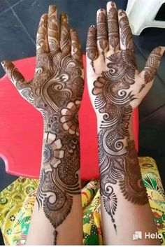 Best 11 Mehndi henna designs are always searchable by Pakistani women and girls. Women, girls and also kids apply henna on their hands, feet and also on neck to look more gorgeous and traditional. Arabic Mehndi Designs Brides, Rajasthani Mehndi Designs, Mehndi Designs Book, Full Hand Mehndi Designs, Mehndi Designs For Girls, Mehndi Designs For Beginners, Mehndi Designs 2018, Stylish Mehndi Designs, Dulhan Mehndi Designs