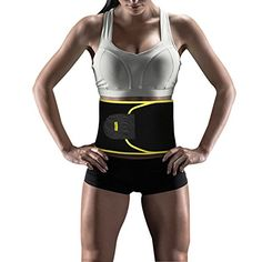 Yosoo Waist Trimmer Belt - Neoprene Waist Sweat Band for Slimmer Water Weight Loss Mobile Sauna Tummy Tuck Belts Strengthen Tummy Abs During Exercising Workout, for Women, Yellow ** To view further for this item, visit the image link.