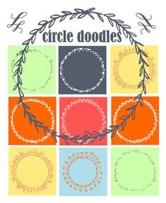 free digital and printable circle doodle tags and digi stamp | MeinLilaPark – digital freebies
