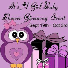 It's a Girl Baby Shower Giveaway Event: Enter to win $300 in Baby Girl's Items!  Open Worldwide. Ends 10/3