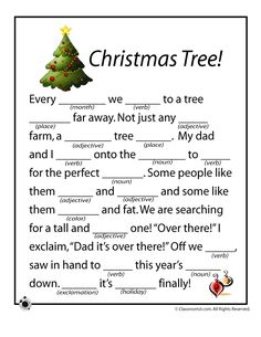 3 free Christmas mad libs for kids, in full color and ready to print! Holiday Games, Christmas Party Games, Holiday Activities, Holiday Fun, Christmas Crafts, Christmas Ideas, Christmas Trivia, Christmas Writing, Christmas Traditions