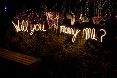 Breathtaking proposal ideas: Using cute fairylights for a proposal is a MUST!