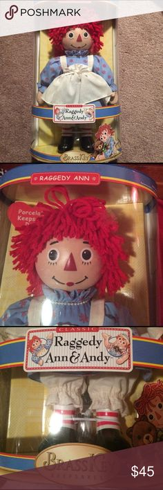 Selling this Classic Porcelain Raggedy Ann Doll  BRASS KEY on Poshmark! My username is: rileyreghan. #shopmycloset #poshmark #fashion #shopping #style #forsale #Other