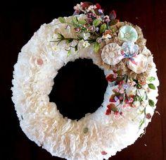 Coffee Filter Wreath - May Arts Wholesale Ribbon Company
