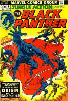 Jungle Action F 1974 Marvel Comic Black Panther Origin Archie Comics, Avengers Comics, Marvel Comic Books, Comic Book Heroes, Comic Books Art, Dc Comics, Book Art, Black Panther Comic, Black Panther Origin