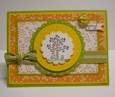 Spring Tree! using Stampin Up A Tree for All Seasons retired stamp set
