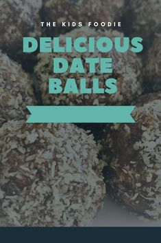 Easy, best, delicious, date balls. Easy treat for lunch boxes, tea parties and on the go snacks. On The Go Snacks, Healthy Snacks For Kids, Date Balls, Easy Date, Digestive Biscuits, Baking With Kids, Balls Recipe, Lunch Boxes, Salted Butter