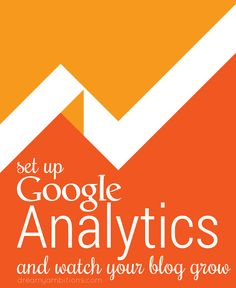 How to set up google analytics for your blog.