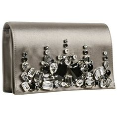 prada raso satin beaded evening bag