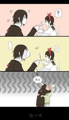 Sasuke and Sarada [by http://www.pixiv.net/member_illust.php?mode=medium&illust_id=48411271]
