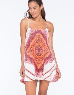 MIMI CHICA Scarf Print Slip Dress 256639957 | Short Dresses