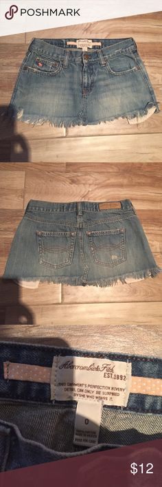 Abercrombie & fitch Denim mini skirt. 10 inches long Abercrombie & Fitch Skirts Mini