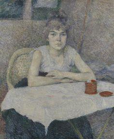 Een jonge vrouw aan tafel, 'Poudre de riz', 1887, Henri de Toulouse-Lautrec, Van Gogh Museum, Amsterdam (Vincent van Gogh Stichting)