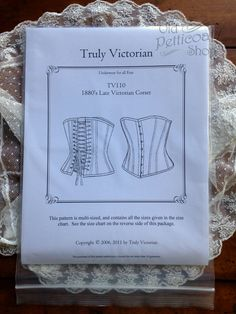 Truly Victorian TV110 1880s Late Victorian Corset Pattern – Old Petticoat Shop